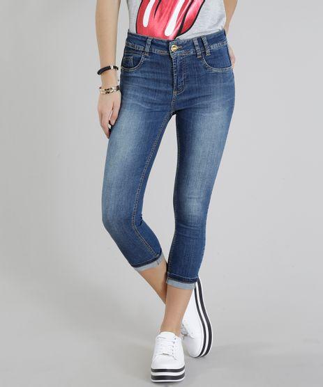 Calca-Jeans-Feminina-Sawary-Cropped-Barra-Dobrada-Azul-Medio-9322494-Azul_Medio_1