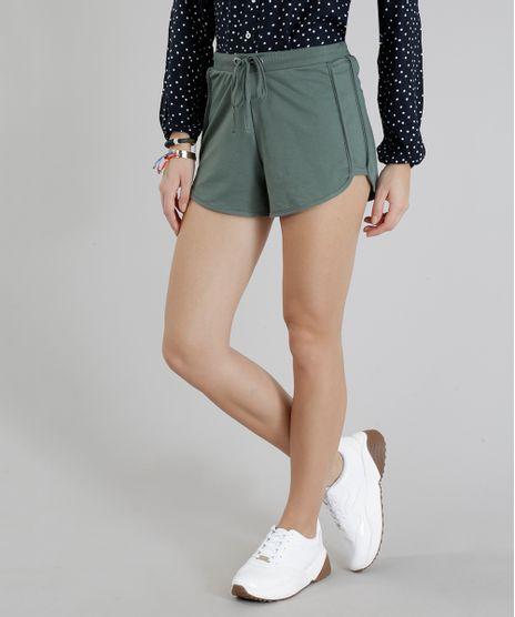 Short-Feminino-Running-Esportivo-Basico-em-Moletom-Verde-Militar-1-8793882-Verde_Militar_1_1