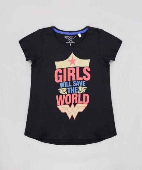 Blusa-Infantil-Mulher-Maravilha--Girls-Will-Save-the-World--Manga-Curta-Decote-Redondo-Preta-9230149-Preto_1