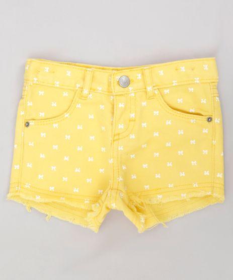 Short-Color-Infantil-Estampado-de-Lacos-com-Barra-Desfiada-Amarelo-9245812-Amarelo_1