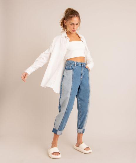 Calca-Baggy-Jeans-Cintura-Super-Alta-Patchwork-Sawary-Azul-Medio-1006616-Azul_Medio_1