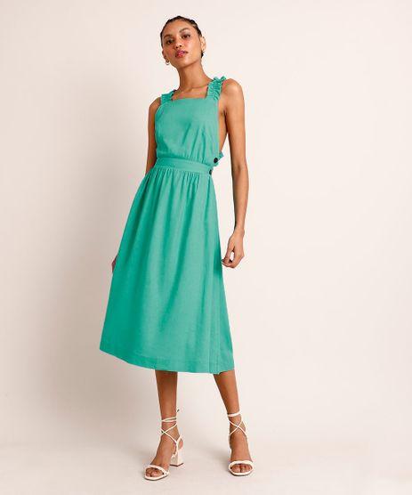 Vestido-Midi-Salopete-com-Linho-Alca-Larga-Franzida-Verde-Agua-9998720-Verde_Agua_1