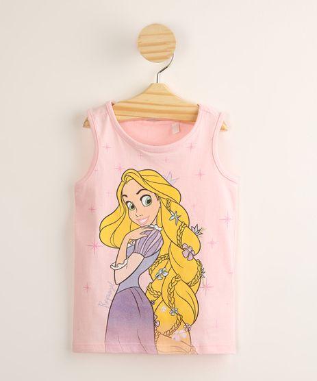 Regata-Infantil-de-Algodao-Rapunzel-com-Glitter-Rosa-Claro-9995305-Rosa_Claro_1