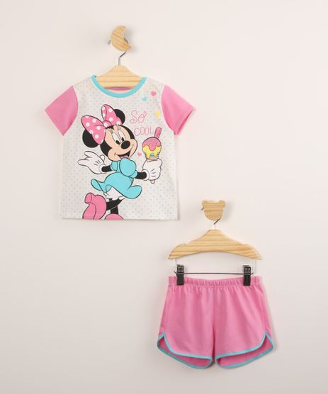 Pijama-Infantil-de-Algodao-Manga-Curta-Minnie-e-Poa-Off-White-1000770-Off_White_1