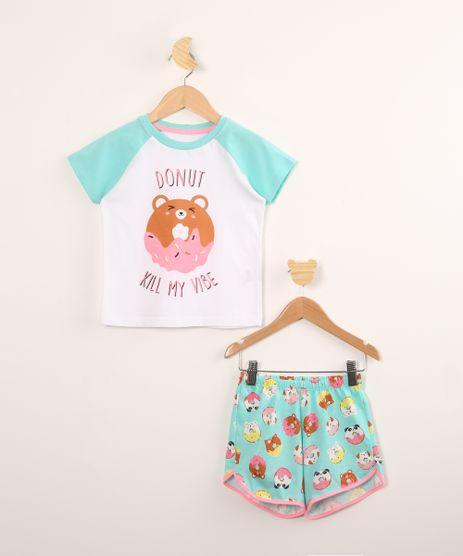 Pijama-Infantil-de-Algodao---Donut-Kill-My-Vibe--com-Glitter-Manga-Curta--Branca-9997908-Branco_1