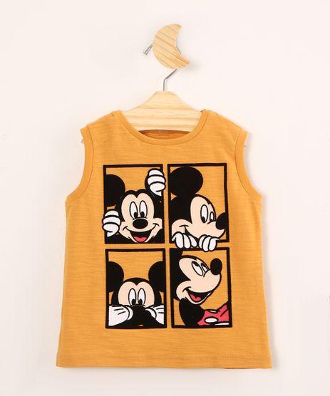 Regata-Infantil-de-Algodao-Mickey-Mouse-Mostarda-9994645-Mostarda_1
