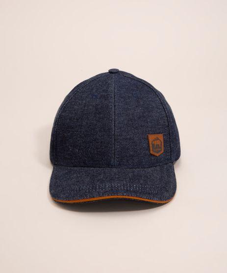 Bone-Aba-Curva-Jeans-Azul-Escuro-1000851-Azul_Escuro_1