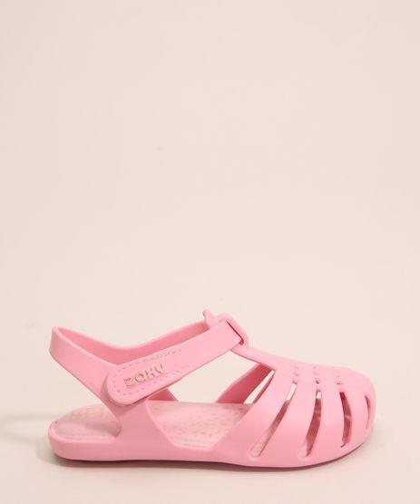 Sandalia-Infantil-Zaxynina-Encantada-com-Estrelas-e-Velcro-Grendene-Rosa-1007248-Rosa_1