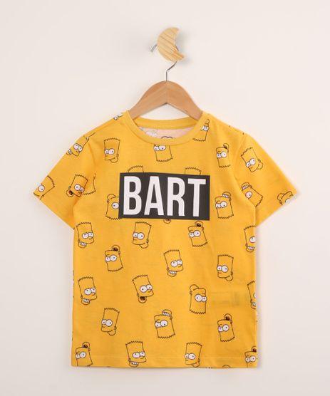 Camiseta-Infantil-de-Algodao-Estampada-Bart-Simpson-Manga-Curta-Amarela-9995245-Amarelo_1
