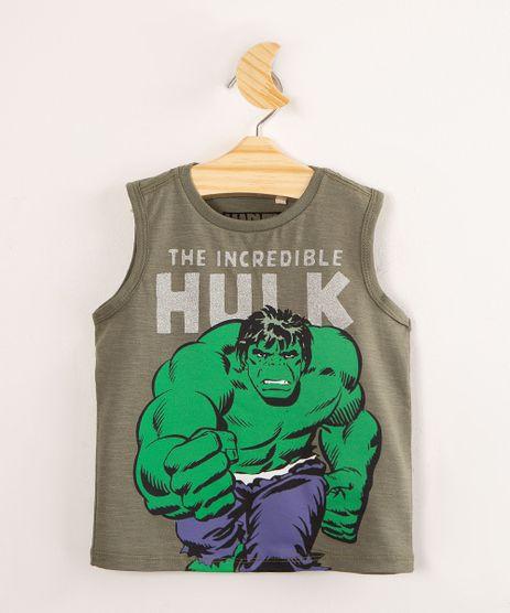 Regata-Infantil-de-Algodao--O-Incrivel-Hulk--Verde-Militar-1002510-Verde_Militar_1