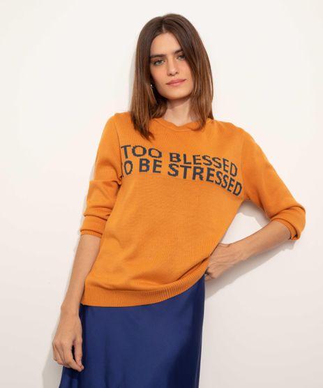 Sueter-de-Trico-Feminino-Mindset--Too-Blessed--Decote-Redondo-Mostarda-9949323-Mostarda_1