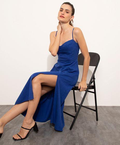 Vestido-com-Fenda-Midi-Alca-Fina-Mindset-Azul-Royal-9830538-Azul_Royal_1