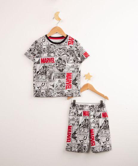 Pijama-Infantil-Manga-Curta-Estampado-Quadrinhos-Os-Vingadores-Marvel-Cinza-Mescla-Claro-9997924-Cinza_Mescla_Claro_1