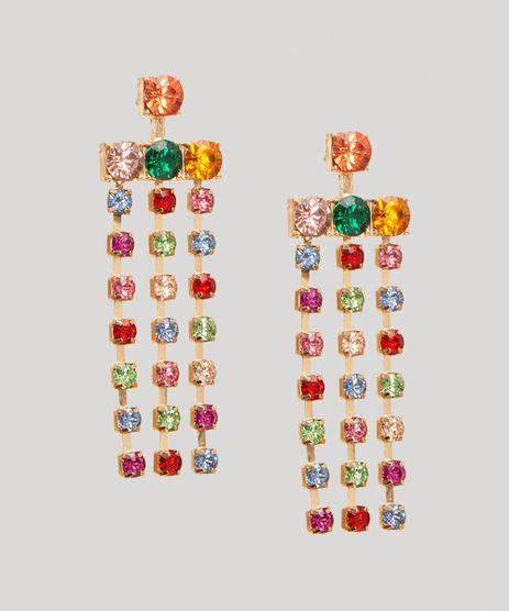 Brinco-de-Franjas-com-Strass-Coloridos-Dourado-9991958-Dourado_1