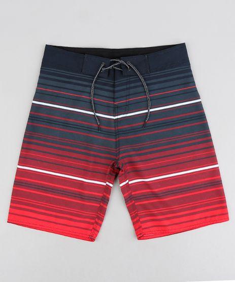 Bermuda-Surf-Infantil-com-Cordao-Listrada-Vermelha-9243387-Vermelho_1