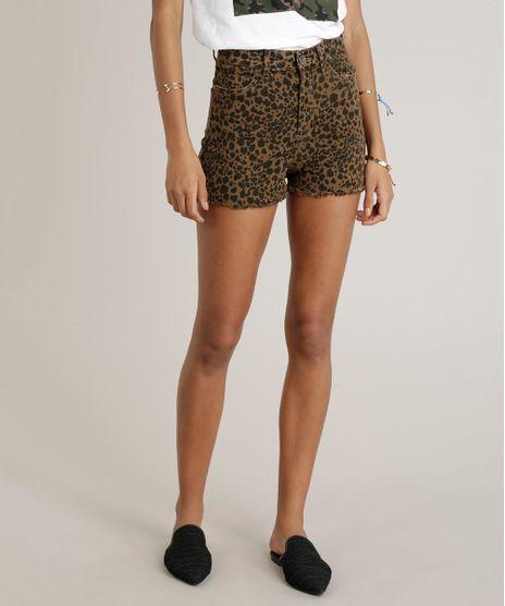 Short-de-Sarja-Feminino-Hot-Pant-Estampado-Animal-Print-Marrom-9328479-Marrom_1