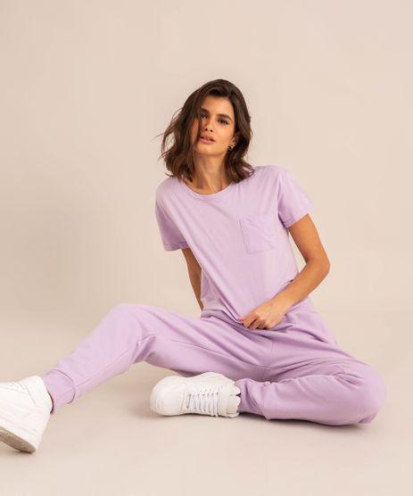conjunto-basico-de-camiseta-cropped-com-bolso-manga-curta-decote-redondo---calca-jogger-de-moletom-cintura-media--lilas-1006882-Lilas_1