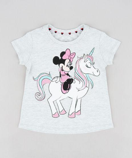 Blusa-Infantil-Minnie-e-Unicornio-com-Glitter-Manga-Curta-Decote-Redondo-Cinza-Mescla-Claro-9298900-Cinza_Mescla_Claro_1