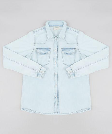 Camisa-Jeans-Infantil-com-Bolsos-Manga-Longa-Azul-Claro-9169052-Azul_Claro_1