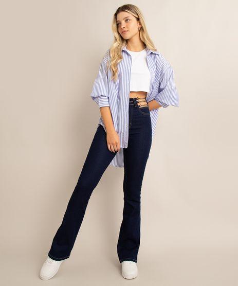 calca-flare-jeans-cintura-super-alta-cut-out-com-correntes-sawary-azul-escuro-1006605-Azul_Escuro_1