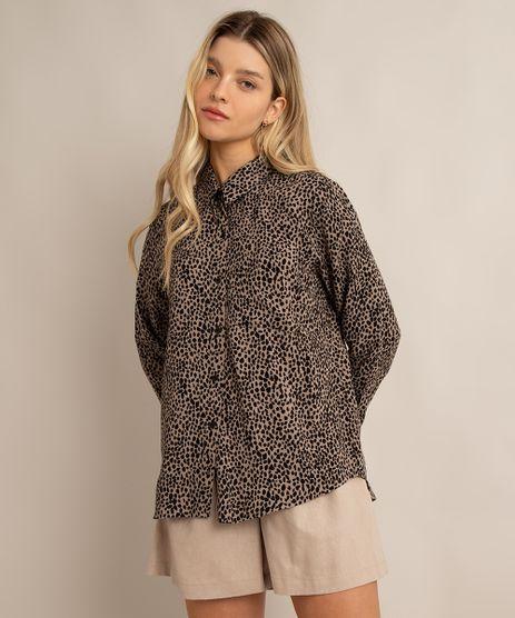 camisa-de-viscose-estampada-animal-print-com-bolso-manga-longa-bege-1004236-Bege_1