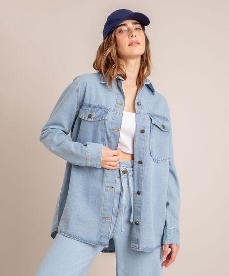 Jaqueta-Shacket-Jeans-com-Bolsos-Azul-Claro-1006557-Azul_Claro_1