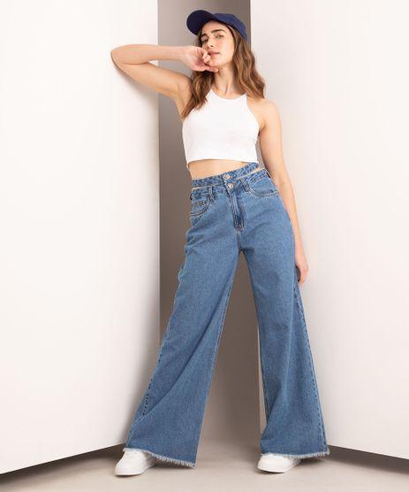 Calca-Wide-Jeans-Cut-Out-Cintura-Super-Alta-com-Cos-Duplo-Azul-Medio-1006880-Azul_Medio_1