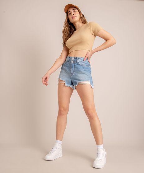 Short-Vintage-Jeans-Destroyed-Cintura-Super-Alta-Azul-Medio-1006871-Azul_Medio_1
