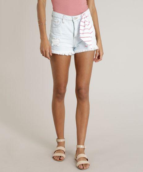Short-Jeans-Feminino-Reto-Destroyed-com-Bandana-Delave-9299950-Delave_1