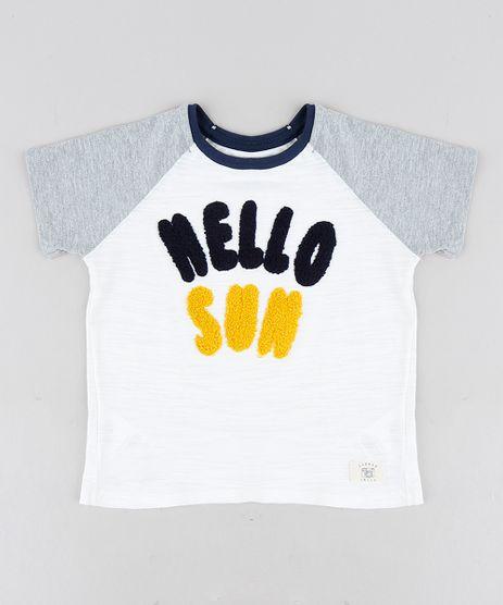Camiseta-Infantil--Hello-Sun--Raglan-Manga-Curta-Gola-Careca-Off-White-9224611-Off_White_1