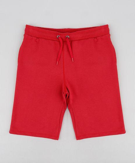Bermuda-Infantil-Basica-em-Moletom-Vermelha-9272834-Vermelho_1