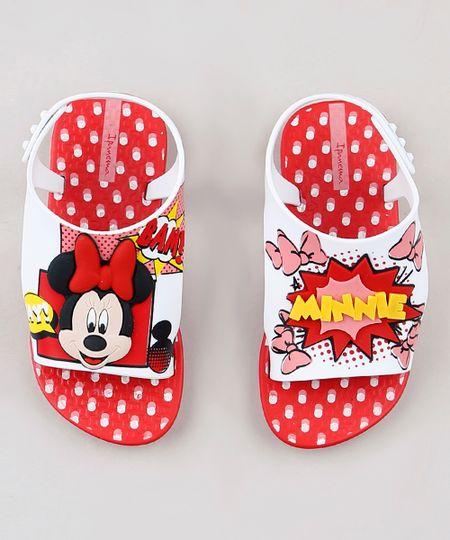 5dc56b946 Sandália Infantil Ipanema Minnie Mouse Vermelha | Menor preço com cupom