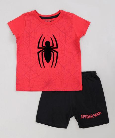 Pijama-Infantil-Homem-Aranha-Manga-Curta-Vermelho-9224216-Vermelho_1
