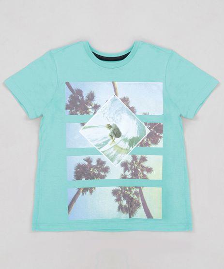 Camiseta-Infantil-Coqueiros-Manga-Curta-Gola-Careca-Verde-9228060-Verde_1