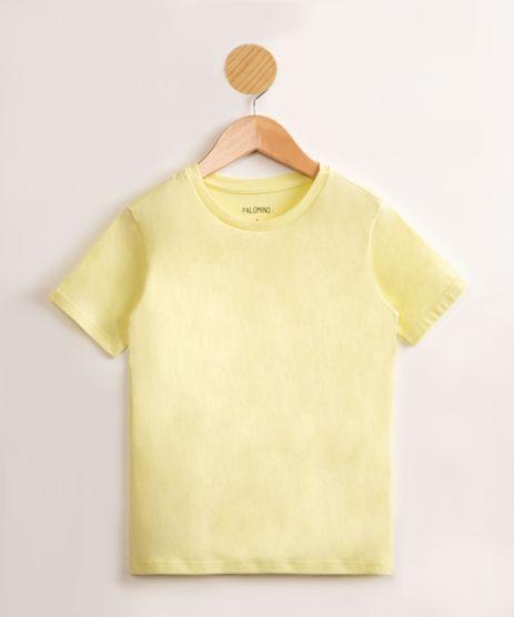 Camiseta-Infantil-de-Algodao-Basica-Manga-Curta-Amarelo-Claro-9976961-Amarelo_Claro_1