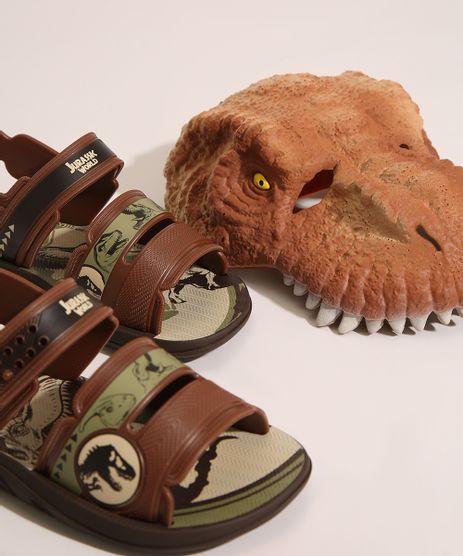 Sandalia-Papete-Infantil-Jurassic-World-Vem-com-Mascara-de-Dinossauro-Grendene-Marrom-9999002-Marrom_1