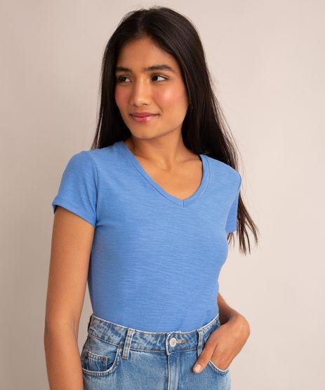 camiseta-flame-de-algodao-basica-manga-curta-decote-v-azul-2-8525926-Azul_2_1