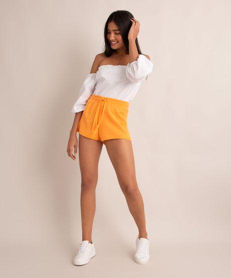 short-de-moletom-basico-com-recorte-canelado-e-cordao-cintura-media-laranja-9950161-Laranja_1