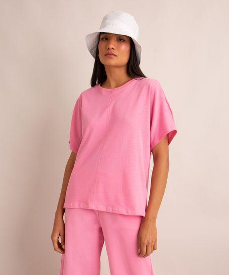 camiseta-oversized-basica-de-algodao-manga-curta-decote-redondo-com-recorte--rosa-1006066-Rosa_1
