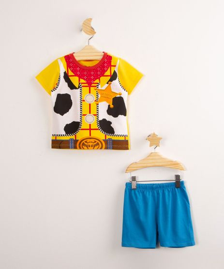 Pijama-de-Algodao-Infantil-Toy-Story-Woody-Manga-Curta-Amarelo-1000767-Amarelo_1