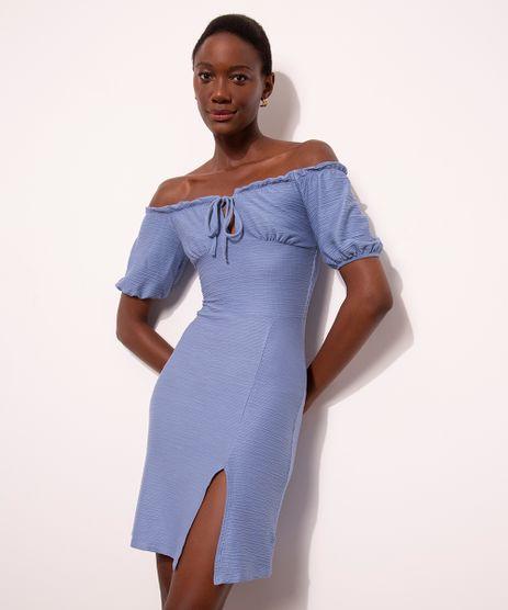 vestido-curto-ombro-a-ombro-com-lastex-manga-bufante-e-fenda-mindset-azul-1012479-Azul_1