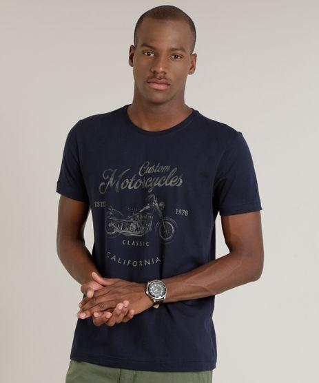 Camiseta-Masculina--Custom-Motorcycles--Manga-Curta-Gola-Careca-Azul-Marinho-9165163-Azul_Marinho_1