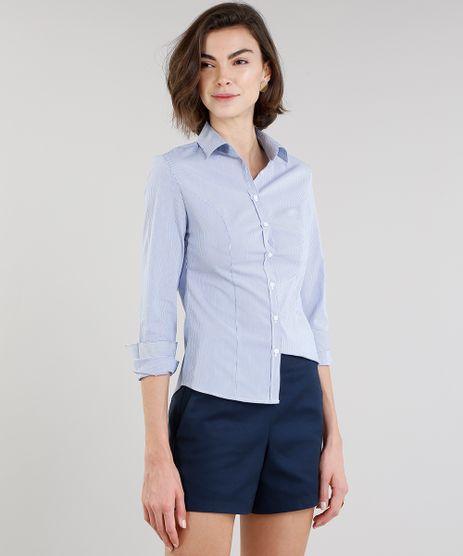 Camisa-Feminina-Listrada-Manga-Longa-em-Tricoline-Azul-Marinho-8797414-Azul_Marinho_1
