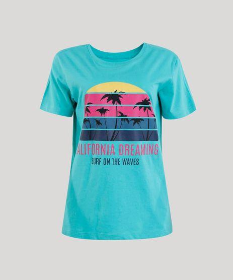 T-shirt-Feminina--California-Dreaming--Manga-Curta-Verde-Agua-9329756-Verde_Agua_2