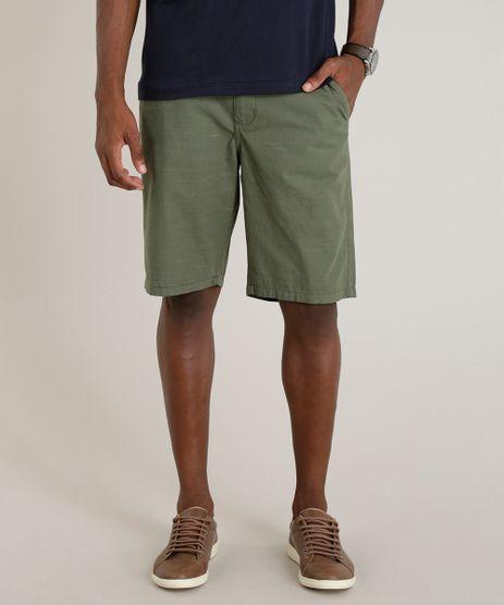 Bermuda-Masculina-Reta-Mescla-Verde-Militar-9268974-Verde_Militar_1