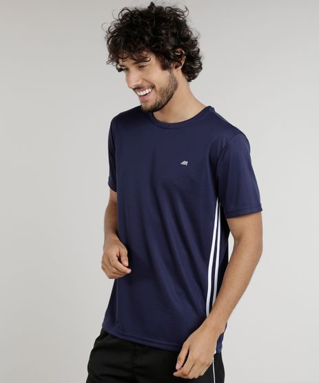Camiseta-Masculina-Esportiva-Ace-de-Treino-com-Listras-Laterais-Azul-Marinho-9156305-Azul_Marinho_1