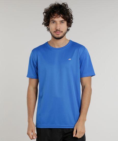 Camiseta-Masculina-Esportiva-Ace-de-Treino-com-Listras-Laterais-Azul-Royal-9156305-Azul_Royal_1