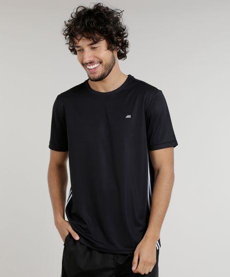 Camiseta-Masculina-Esportiva-Ace-de-Treino-com-Listras-Laterais-Preta-9156305-Preto_1