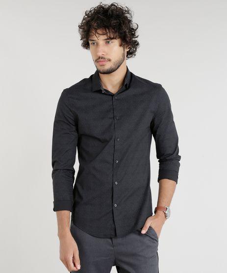 bda72fcffc Camisa-Masculina-Slim-Manga-Longa-Preta-9089565-Preto 1