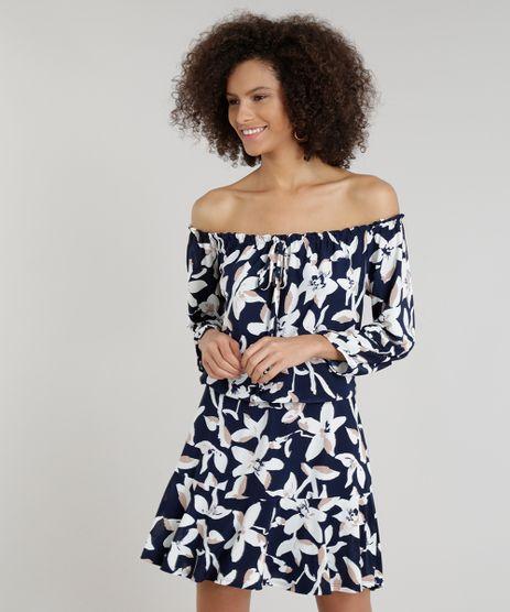 Vestido-Feminino-Ciganinha-Curto-Estampado-Floral-Azul-Marinho-9282253-Azul_Marinho_1